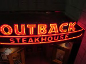 Outback Steakhouse, bloomin onion, Jakes Famous Crawfish,